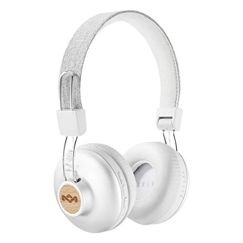 House of Marley EM-JH133-SV Positive Vibration 2 Wireless Bluetooth On Ear Headphones,Silver,Large
