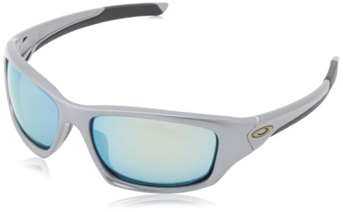 Oakley Valve Polarized Iridium Rectangular Sunglasses,Dark Grey,60 ()
