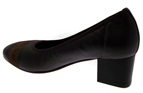 Mujer calzado art calzado X4136 tribunal con pintura de piel, color marrón