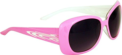 It's All Good Ceres Polycarbonate Women's Sunglasses (White Inside and Pink Outside, Smoke Gradient Flash Mirror - Oakley Prescription Cheap Sunglasses
