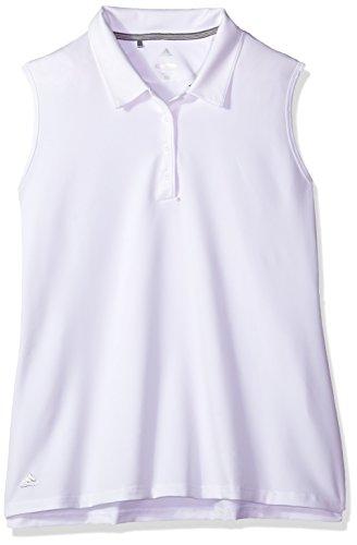 Adidas White Sleeveless - adidas Golf Women's Ultimate 365 Sleeveless Polo, Medium, White