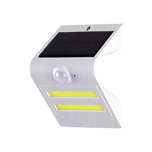 Solar Wall Sensor Light high Power COB Light Garden Lights (White) ()