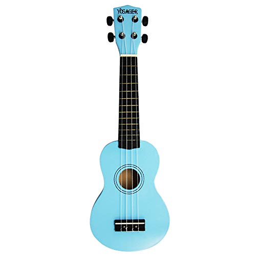 yosager 21 Inch Wooden Ukulele Toy for Kids Musical Instrument Musical Toys (Blue) (Kids Toy Guitar)