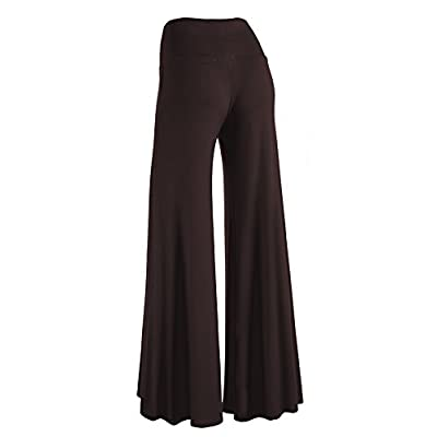 Made By Johnny Women's Casual Comfy Wide Leg Palazzo Lounge Pants (XS~5XL) at Women's Clothing store