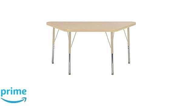 ECR4Kids Mesa T-Mold mesa de actividades escolar trapezoidal de 24 ...