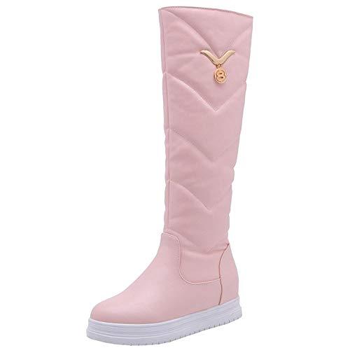3 Moda Moda Moda Scarpe Foderato Pull Pull Inverno On Caldo Zeppa rosa Donne Zanpa 5wXqUTzU
