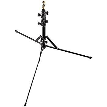 Manfrotto 001B 6-Feet Nano Stand with Retractable Legs 5/8-Inch Stud and 015 Top - Replaces 3373 (Black)