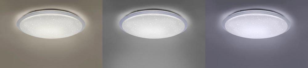 D=79 cm dimmbar Fernbedienung tageslichtwei/ß 5200 Lumen Sternenhimmel XXL kaltwei/ß LED-Deckenleuchte CCT Lichtfarbsteuerung Farbtemperaturwechsel warmwei/ß
