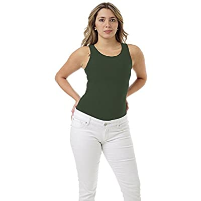 Underworks Women's Microfiber Compression Minimizer Tank for Running, Workouts, Shapewear: Clothing
