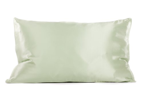 Price comparison product image TexereSilk Mulberry Silk Pillowcase - Solid Case for Facial & Hair Health (Single Pack, Mint Cream, King) Anti Aging Pillowcases HS0001-MNT-K