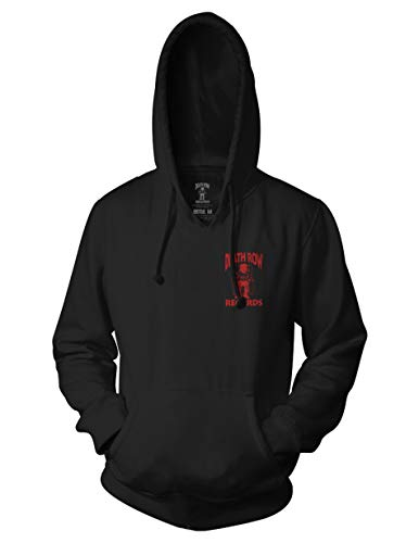 Ripple Junction Death Row Records Adult Unisex Red Black Death Row Logo Pull Over Hoodie