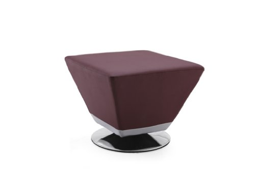 Cheap International Design Cube Leatherette Ottoman, Purple