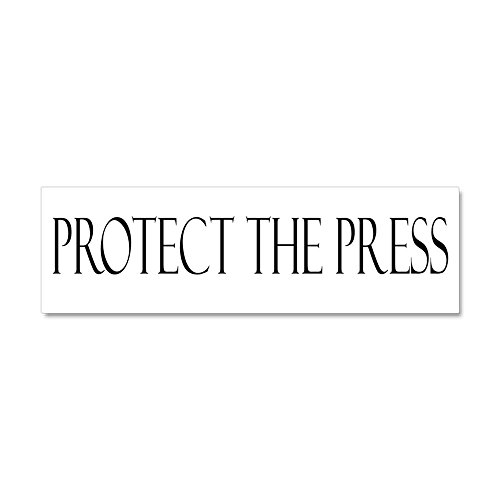 CafePress - Protect The Press - Car Magnet 10 x 3, Magnetic Bumper Sticker