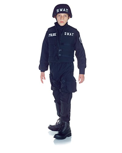 Underwraps Swat Police Kids Costume Blue -