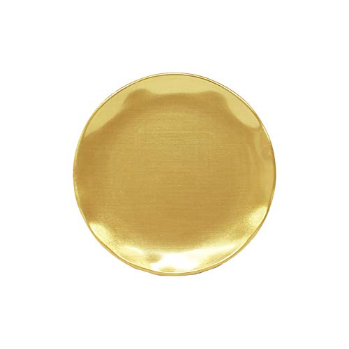 Gold pearl melamine dinnerware collection 8.5 inch round salad plate, comes in - Dinnerware Pearl Gold