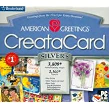 Amazon american greetings broderbund software american greetings creatacard silver 8 jewel case m4hsunfo