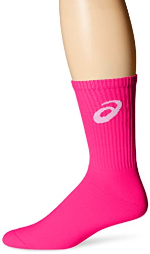 ASICS Team Crew Sock (Single Pair Pack), Pink Glow, Medium