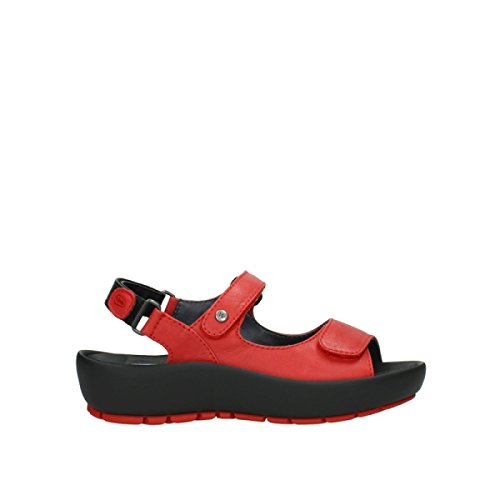 Leather Rio 250 Sandals Leder Rosso Wolky Womens Rot OgwfqxOZ4