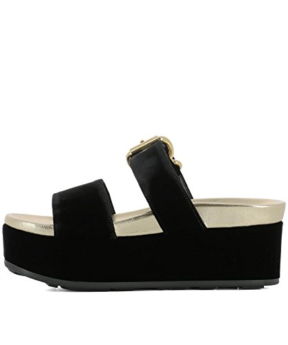 Prada Women's 1XZ640LSZF0002 Black Velvet Sandals cost cheap online cheap cheap online 02dwI9VSvg
