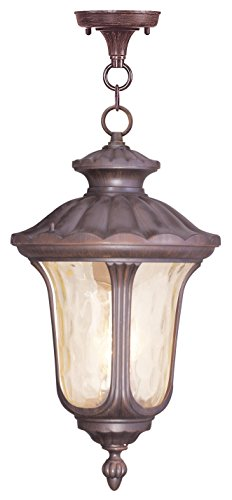 Livex Lighting 7665-58 Oxford 3 Light Outdoor Hanging Lantern, Imperial Bronze