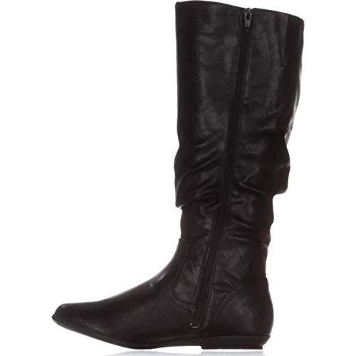 CLIFFS BY WHITE MOUNTAIN Womens Felisa Almond Toe Knee High, Black, Size 5.0
