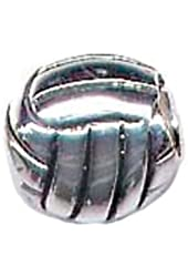 Zable Sterling Silver Volleyball Bead Charm (9 X 8 mm)
