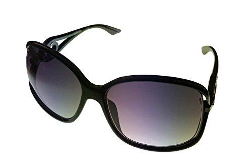 Kenneth Cole Reaction Sunglass Black Rectangle Plastic, Smoke Gradient Lens KC1232 - Sunglasses Shoes