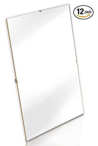 "UPC 719926414753, (12 Pack) 5"" x 7"" Glass Clip Sign Frame Wall Mount Document Picture Holder"