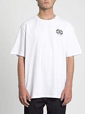 Volcom Spread Bxy SS Camiseta de Manga Corta, Hombre, Blanco (White), S: Amazon.es: Deportes y aire libre