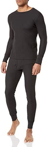 Fruit of the Loom Mens Recycled Waffle Thermal Underwear Set (Top and Bottom)