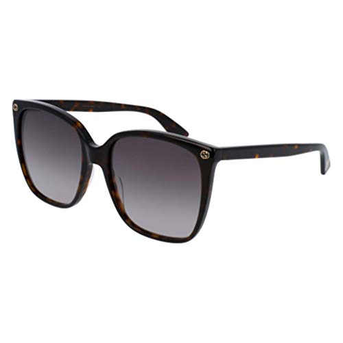 Gucci Women Design Sunglasses GG0022S 003 Havana Brown Gold With Dark lens ()