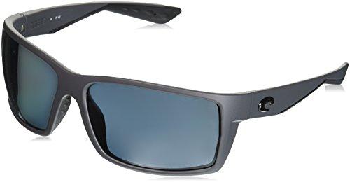 Costa Del Mar RFT98OGP Reefton Sunglass, Matte Gray - Costa Discount Sunglasses