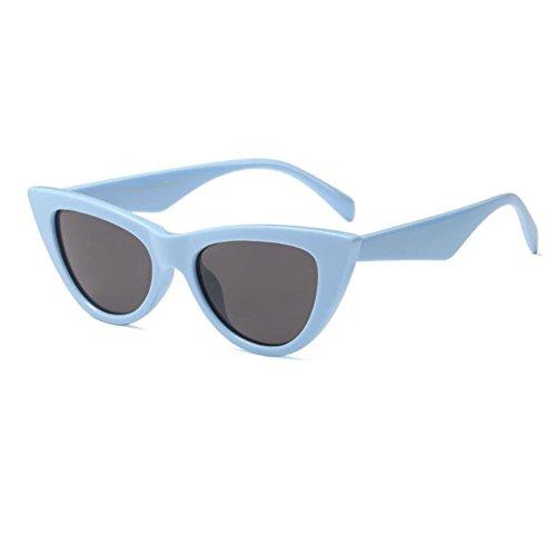de Gafas Mujer C3 Gray Deylaying de Ojo Enorme Marco gato 9 de Lente Estilo Skyblue Moda Fiesta Gafas UV400 para primavera Escoger Bisagra sol Color Retro IwX8wF