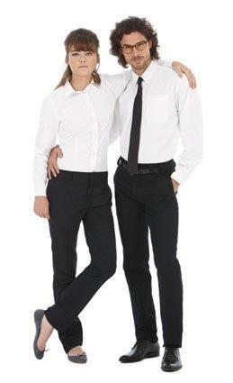 para Hombre Caballero B/&C Fiesta//Trabajo//Eventos importantes Camisa de manga larga Modelo Oxford Tallas grandes
