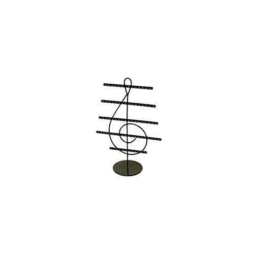 Présentoir boucles d'oreilles noir en forme de clé de sol - 2375 Grossiste-présentoir 23750