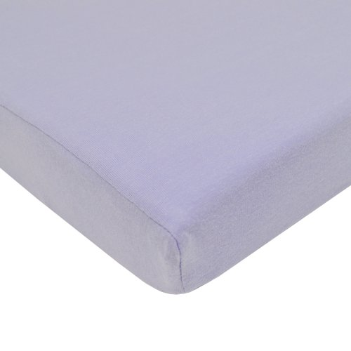 (TL Care Supreme 100% Natural Cotton Jersey Knit Fitted Crib Sheet for Standard Crib and Toddler Mattresses, Lavender, 28