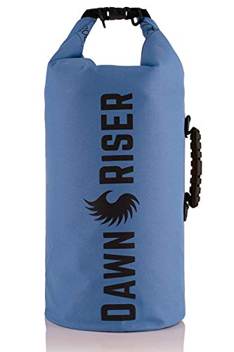 Dawn Riser Kayak Waterproof Dry Bag Backpack – & Transcluscent - for Camping, Hiking, Rafting, Boating, Swimming, Beach, Outdoor – Roll Top Floating Compression Sack Gear
