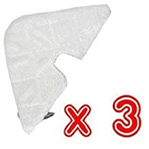 EcoMaid(TM) Accessories For Shark Pocket Steam Mop Triangle Microfiber Pads S3501 Deluxe