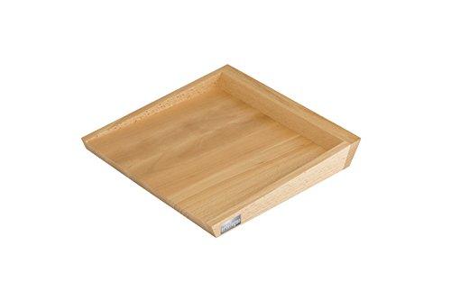 Artelegno 65 Square Roma Tray Solid Beech Wood, Natural Lacquer Finish, 11.8 x 11.8 x 1.57 by Arte Legno