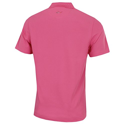 Greg Tek Performance Hommes Rose Polo Pro Isles Norman Pique Micro rq6wr