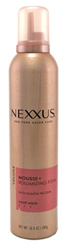 Nexxus Mousse Plus 10.6 Ounce Volumizing Foam Light Hold (313ml) (3 Pack)