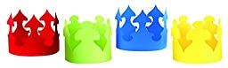 Hygloss 65249 24-Piece Bright Tag Paper Crowns