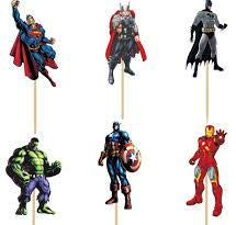 Avengers Cupcake Toppers Avengers Super Hero Birthday Party