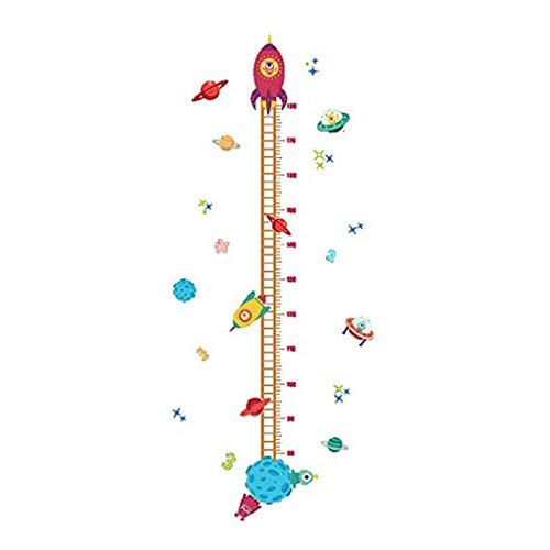 Zerama Lovely Rocket Growth Chart Wall Stickers Kids Room Decoration Children Height Measure DIY Home Decals