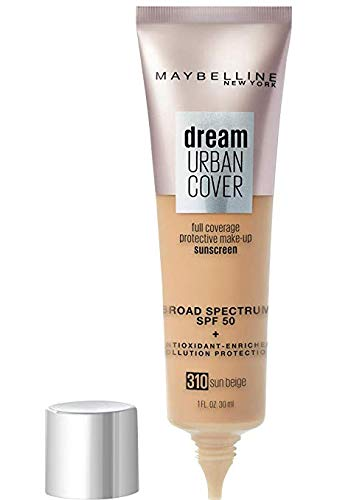 Dream Urban Cover Full Coverage Protective Sunscreen Makeup, 310 Sun Beige, 1 fl oz (Pack of 2)