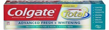 Colgate [3 pack] Colgate Total Advanced Fresh Anticavity Fluoride and Antigingivitis Toothpaste - Gel, 4.0 oz ()