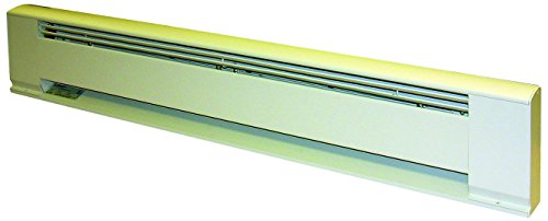 TPI H391572 Series 3900 Hydronic Electric Baseboard Heater, 1500/1125 Wage, White (Baseboard Hydronic Fin Tube)