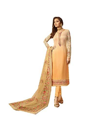 ziya Women's Ethnic Indian Pakistani Straight Salwar Kameez 2601 (Beige, XL-44)
