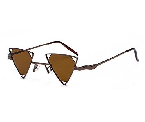 et Huateng rétro Triangle soleil de Lunettes femmes hommes Marron Lunettes non classiques pour de Vintage polarisant soleil 6trFw6q