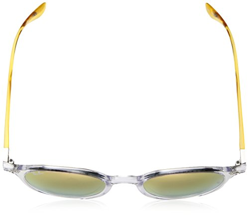 Polarized Non mm Transparent 50 Unisex Sunglasses Ray Injected Round Iridium Ban IqwfTB1